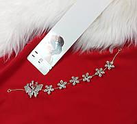 Веточка в прическу Finding Праздничное украшение для волос Серебристый  ВТ019, фото 1