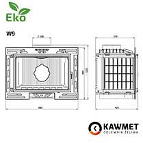 Каминная топка KAWMET W9 (9.8 kW) EKO, фото 2