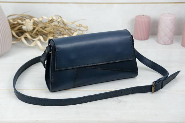 Женская сумка Френки Вечерняя, Кожа Итальянский краст, цвет Синий, фото 2