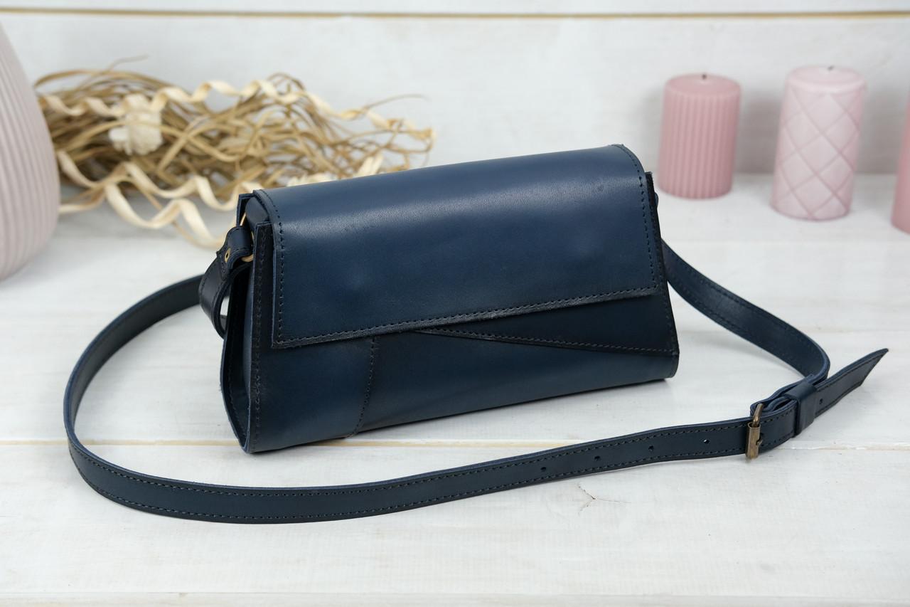 Женская сумка Френки Вечерняя, Кожа Итальянский краст, цвет Синий