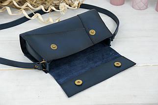 Женская сумка Френки Вечерняя, Кожа Итальянский краст, цвет Синий, фото 3