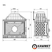 Каминная топка KAWMET W1 Feniks (18 kW), фото 3