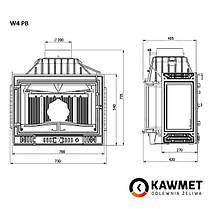 Каминная топка KAWMET W4 с левым боковым стеклом (14.5 kW), фото 3