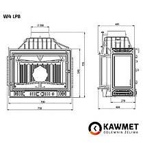 Камінна топка KAWMET W4 тристороння (14.5 kW), фото 3