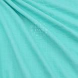 Відріз мусліну однотонного в квадратики, колір тиффани, розмір 50 * 165 см, фото 2
