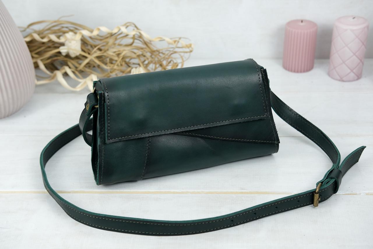 Женская сумка Френки Вечерняя, Кожа Итальянский краст, цвет Зеленый