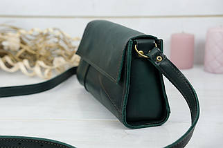 Женская сумка Френки Вечерняя, Кожа Итальянский краст, цвет Зеленый, фото 3