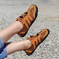 Рыжие аквашузы женские и мужские коралки акваобувь шлепки для моря аква обувь слипоны мокасины оранжевые
