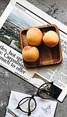 Деревянное блюдце из дуба квадратной формы Woodstuff 12x12 см Коричневое (wds_0006)