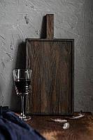 Большая разделочная доска из тёмного дуба Woodstuff L 45x22 см Коричневая (wds_0125d), фото 1