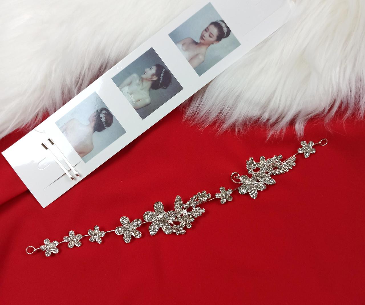 Веточка в прическу Finding Праздничное украшение для волос Серебристый ВТ021