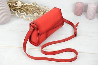 Женская сумка Френки Вечерняя, Кожа Итальянский краст, цвет Красный, фото 2