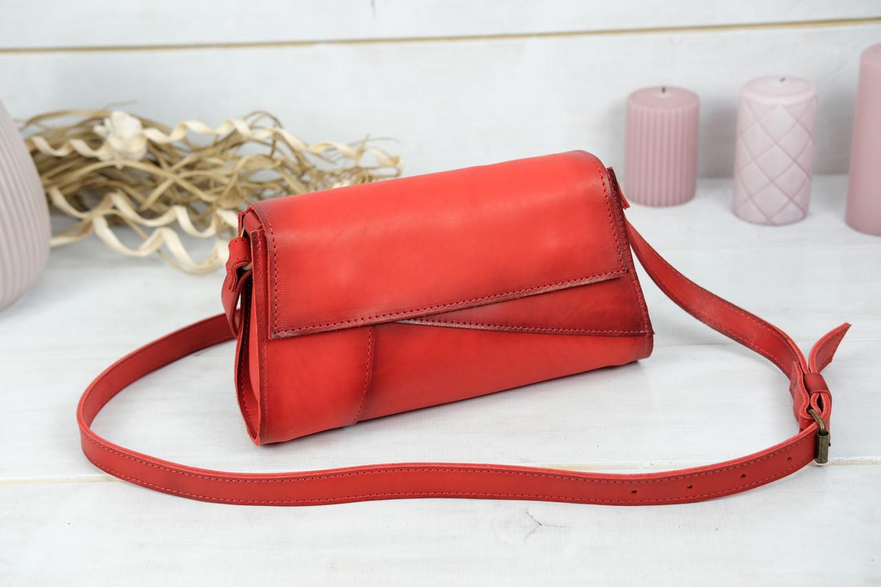 Женская сумка Френки Вечерняя, Кожа Итальянский краст, цвет Красный