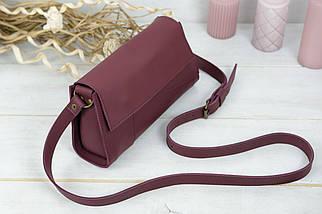 Жіноча сумка Френкі Вечірня, шкіра Grand, колір Бордо, фото 2