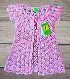 Детское платье-туника с кардиганом машинная вязка+внутри подклад, фото 5