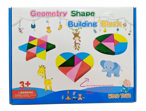Развивающая игрушка Геометрика MD 2329 деревянная (2329C), фото 2