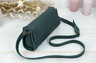 Жіноча сумка Френкі Вечірня, шкіра Grand, колір Зелений, фото 2