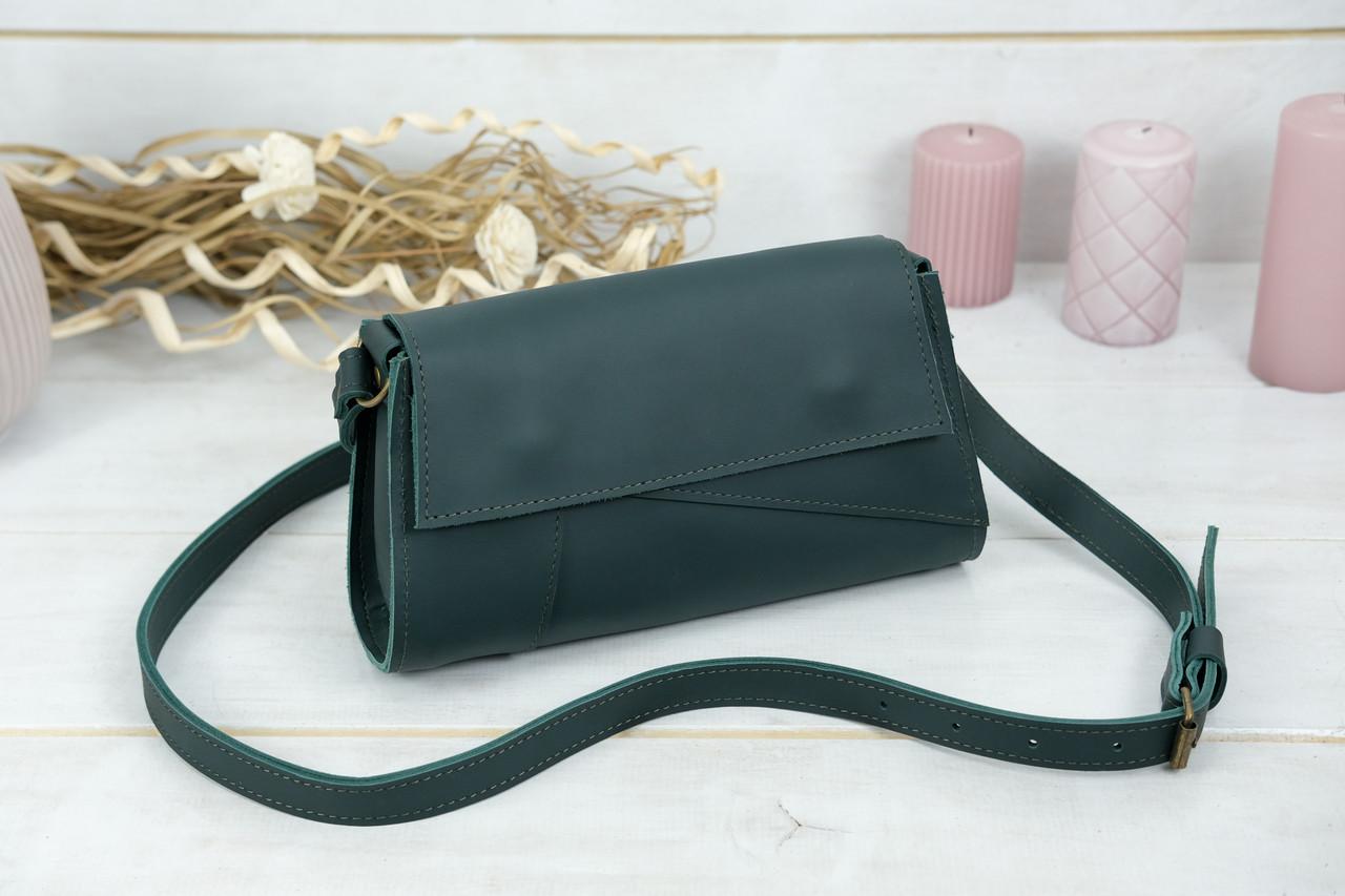 Жіноча сумка Френкі Вечірня, шкіра Grand, колір Зелений