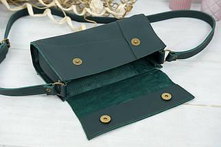 Жіноча сумка Френкі Вечірня, шкіра Grand, колір Зелений, фото 3