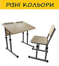 """Комплект """"метдиз 133 антисколиозный"""" растущая парта и стул, регулировка по высоте. Разные цвета."""