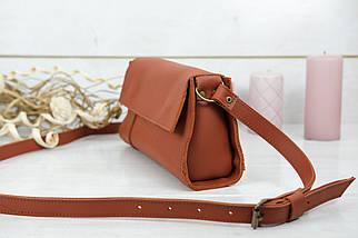 Жіноча сумка Френкі Вечірня, шкіра Grand, колір Коньяк, фото 3