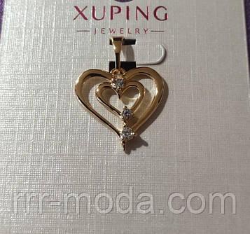 426 Подвески сердца сердечки, кулоны оптом. Кулон Xuping в стразах.