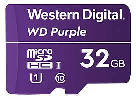 Карта памяти MICRO SDHC 32GB UHS-I/Western Digital PURPL/WDD032G1P0A WDC
