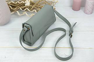 Женская кожаная сумка Френки вечерняя, натуральная кожа Grand, цвет Серый, фото 3