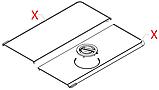 17001207+17001209 Комплект кришок(чорні), Minuto, фото 2