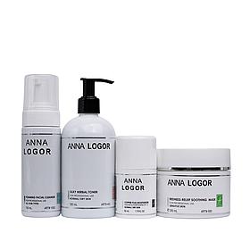 Набор косметики Anna LOGOR Redness-Relief Herbal Kit. Серия для сухой кожи лица