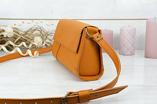 Женская сумка Френки Вечерняя, кожа Grand, цвет Янтарь, фото 3