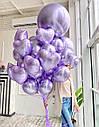 Гелиевые шарики Лиловый Хром, фото 2
