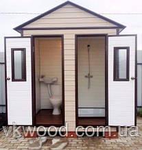 "Туалет и душевая кабина из дерева ""Наша Дача"""