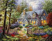 """Алмазная вышивка """"Сказочный домик в лесу"""""""