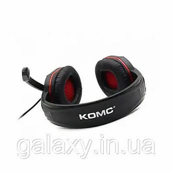 Наушники игровые с микрофоном подсветкой проводные KOMC G311