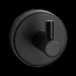 Гачок для рушника та халату SLZD 02N, Sanela (Чехія), нержавіюча сталь з чорним покриттям