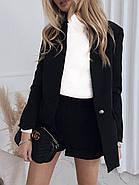 Классический женский костюм с шортами и пиджак, 00833 (Черный), Размер 46 (L), фото 2