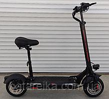 """Складний двоколісний електросамокат для дорослих з сидінням Crosser T4 TURBO Seat Air 10"""" inch 1000W/15 Ah"""