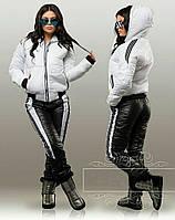 Зимний женский спортивный костюм с лаковым блеском, фото 1