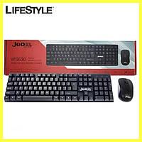 Клавиатура беспроводная / Компьютерная клавиатура JEDEL WS630 + мышка