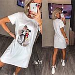 Стильне плаття-туніка з принтом, фото 3