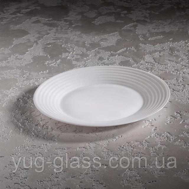 Обеденная тарелка белая Люминарк