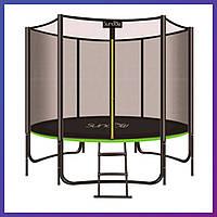 Батут для взрослых и детей для дома с защитной сеткой MS 2920-1 диаметр 183 см