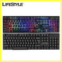 Клавиатура проводная / Компьютерная клавиатура JEDEL K500+ / Клавиатура с подсветкой