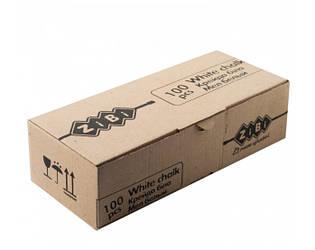 Мел белый ZiBi 100 шт картонная коробка
