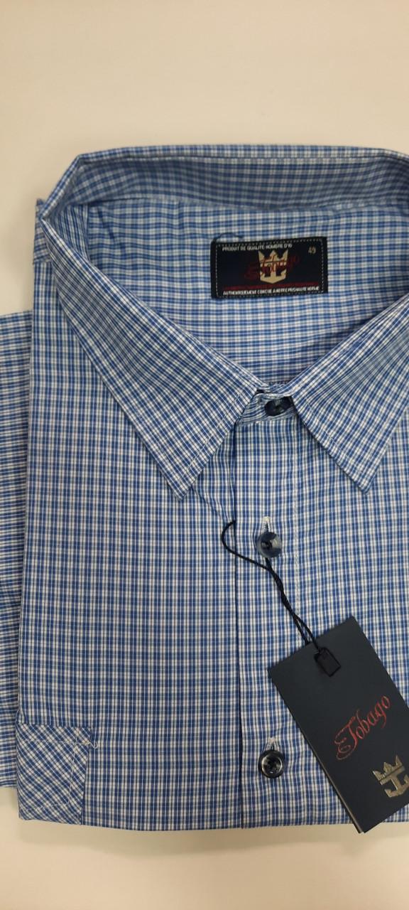 Рубашка мужская ботал короткий рукав  Tobago  модель SDK 7069BK