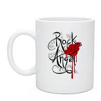 Кружка Rock angel red rose