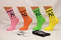Женские носки средние ТЕННИС НЛ с надписями 18-19 см 36-40 ассорти New York