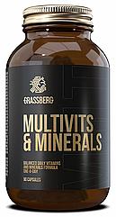Комплекс витаминов и минералов Grassberg Multivits & Minerals 90 капсул