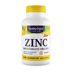 Цинк хелат Healthy Origins Zinc Bisglycinate Chelate 50 mg 120 капсул